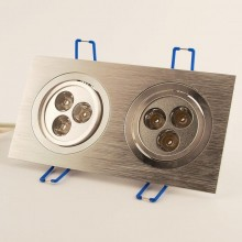 Led Downlight 2 Spots 3x1W 2700K 30°