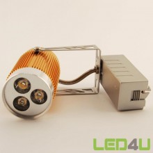 Led Rail spot Goud 3x1W 2700K 30°