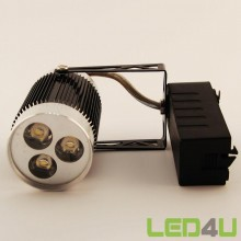 Led Rail spot Zwart 3x1W 4500K 45°