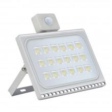 100W LED Bouwlamp Koud Wit met Bewegingssensor