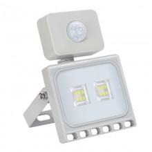 10W LED Bouwlamp Koud Wit met Bewegingssensor