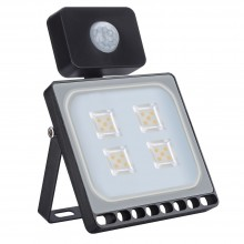 20W LED Bouwlamp Warm Wit met Bewegingssensor